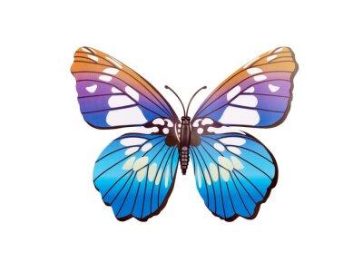 Poster Autocolante de parede de borboleta