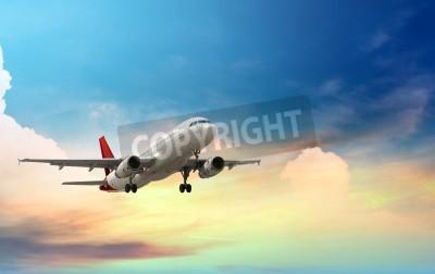 Poster avião a descolar