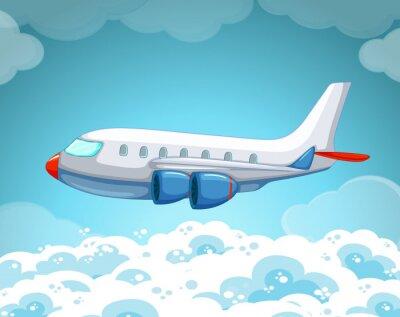 Poster Avião, voando, céu