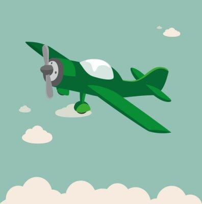 Poster aviões da hélice Stock