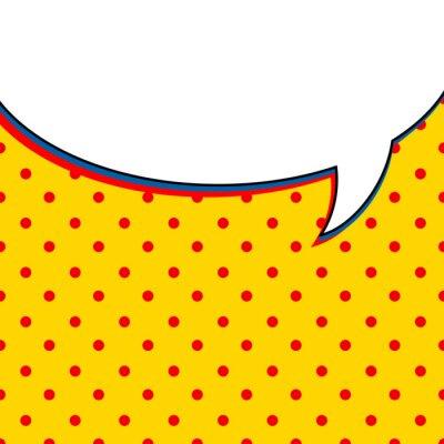 Poster Balão de fala cómica no fundo amarelo