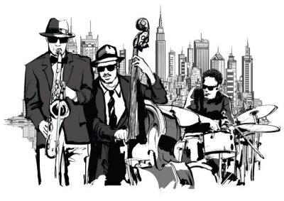 Poster Banda de Jazz em Nova York