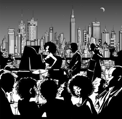 Poster Banda de música Jazz realizar em Nova Iorque