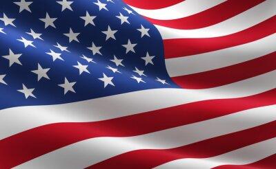 Poster Bandeira dos Estados Unidos da América