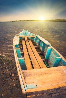 Poster Barcos em um river_3