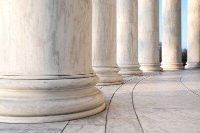 Poster Base de dados de colunas jônicas no Jefferson Memorial, em Washington DC