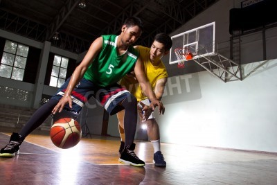 Poster Basketbal player in the game