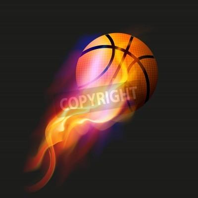 Poster Basketball Fire Ball