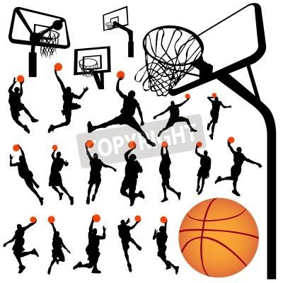 Poster basquete e encosto vector