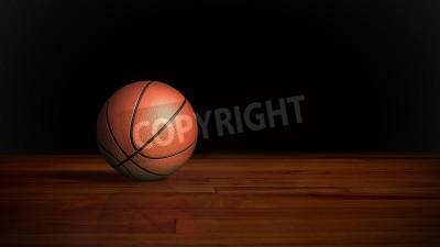 Poster basquete no fundo gráfico piso de madeira