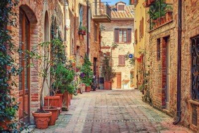 Poster Beco em Old Town Toscana Itália