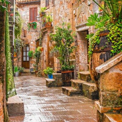 Poster Beco na cidade velha Pitigliano Toscana Itália