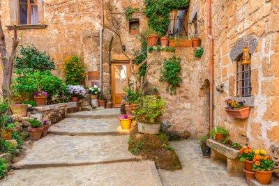 Poster Beco na cidade velha Toscana Itália