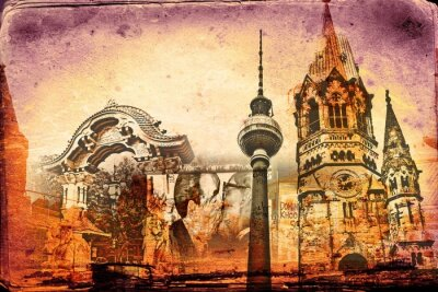Poster Berlim arte projeto ilustração