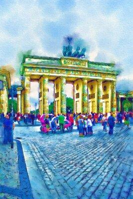 Poster Berlim ilustração da arte
