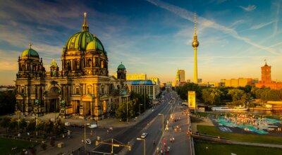 Poster Berlim - vista da cidade