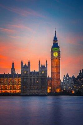 Poster Big Ben e casas do parlamento, Londres