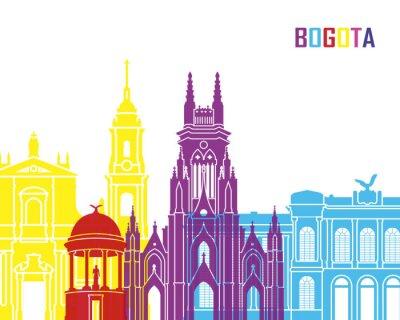 Poster Bogotá pop skyline