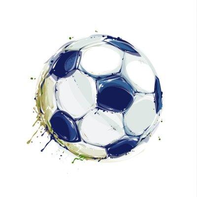 Poster Bola de futebol de Grunge