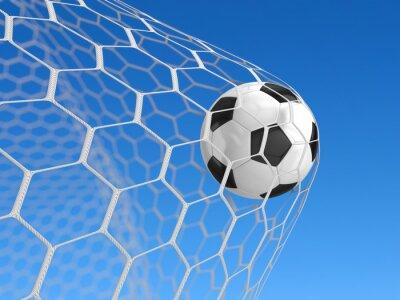 Poster Bola de futebol na rede