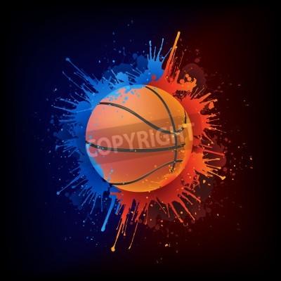 Poster Bola do basquetebol