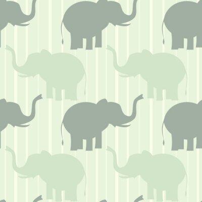 Poster Bonito, pastel, elefante, seamless, vetorial, Padrão, fundo, Ilustração