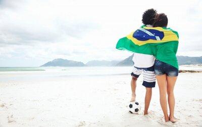 Poster Brasil fãs de futebol