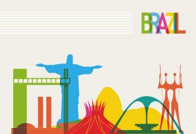 Poster Brasil skyline tourism