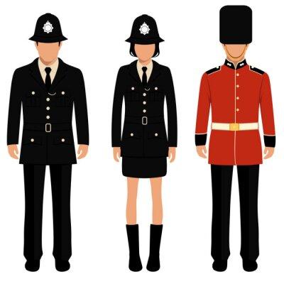 Poster Britânico, guarda, inglês, pessoas, britânico, polícia