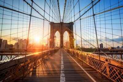 Poster Brooklyn Bridge, em Nova York EUA