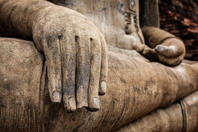 Poster Buddha, estátua, mão, fim, cima, detalhe