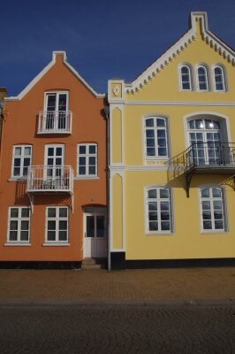 Poster Bunte Häuser em Sonderburg