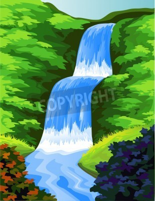 Poster Cachoeira bonita
