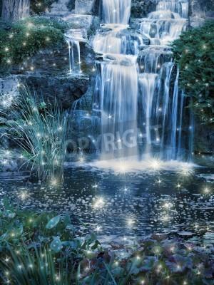 Poster Cachoeira cena mágica noite
