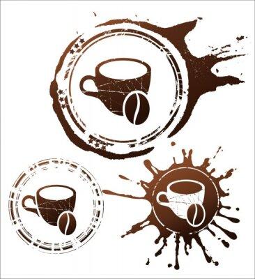 Poster Café elementos de design. Ilustração do vetor