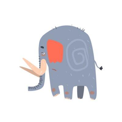 Poster Caminhada azul triste do elefante