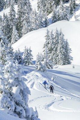 Poster Caminhantes em Tirol nevado