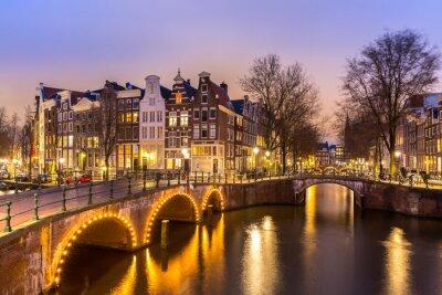 Poster Canais de Amsterdão