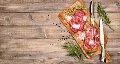 Poster Carne, carne, bife, ervas, temperos