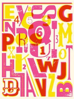 Poster Cartas retros e Números