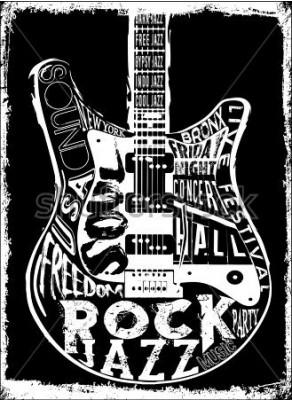 Poster Cartaz da música do hard rock