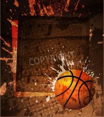 Poster Cartaz da propaganda do basquetebol. Vector a ilustração