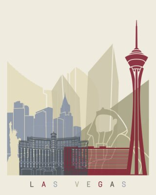 Poster Cartaz da skyline de Las Vegas