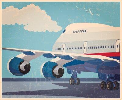 Poster Cartaz velho dos aviões civis grandes