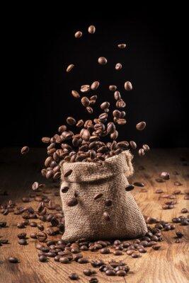 Poster Cascata di chicago di caffè em sacco di iuta