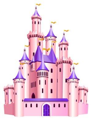 Poster Castelo cor-de-rosa da princesa.