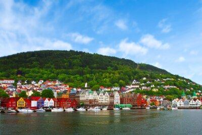 Poster Cidade de Bergen, Noruega