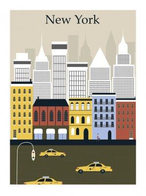 Poster Cidade de Nova York. Vetor