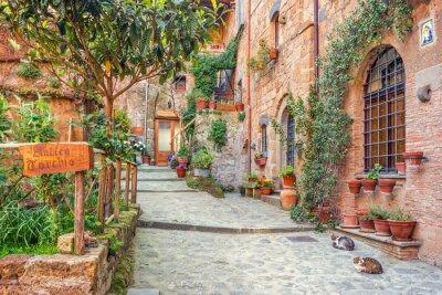Poster Cidade velha Toscana Itália