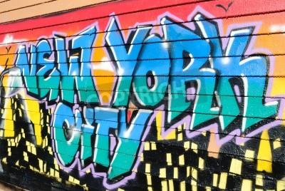 Poster Cinco Pointz, considerado a meca graffiti em Queens, Nova York, é um espaço para exposições ao ar livre com inúmeras pichações artists.October 7, de 2010.